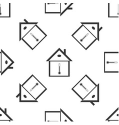 house temperature icon seamless pattern vector image