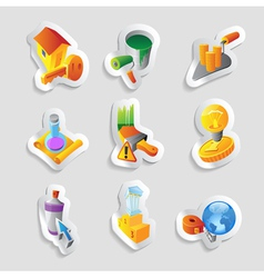 Icons for industry vector