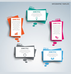 Info graphic with abstract design dialog bubbles vector
