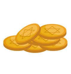 Israel gold coins vector