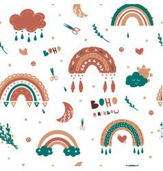 kids rainbow pattern seamless ba vector image