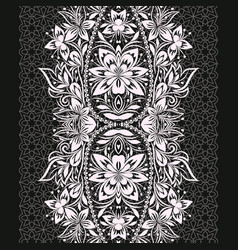 Lace ethnic vertical seamless pattern vector