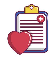 Medical health card icon cartoon style vector