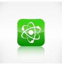 Molecule atom iconApplication button vector image