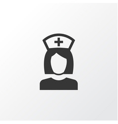 Nurse icon symbol premium quality isolated nanny vector