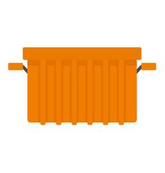 orange garbage tank icon isolated vector image