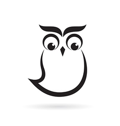 Owl design on a white background vector image