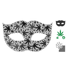 Privacy mask mosaic of marijuana vector