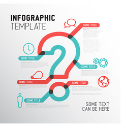 Question mark infographic template vector