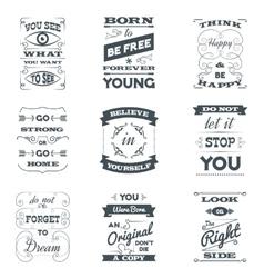 Quotes Typography Set vector