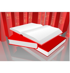 Red books vector