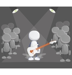 Rock player icon vector