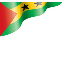 Sao tome and principe flag on vector