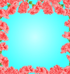 Seamless texture frame pink hibiscus vector image