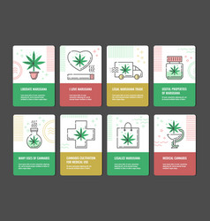 set of marijuana consumption vector image