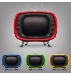 Set retro color tv vector image