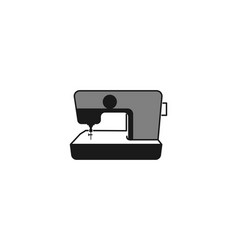 sewing machine logo designs inspiration isolated vector image