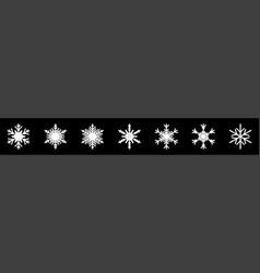 Snowflakes big set icons vector