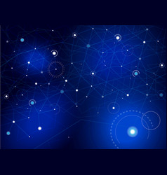 space map stars and lines vector image