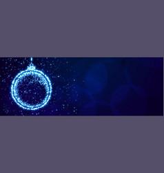 sparkle christmas ball for xmas festival banner vector image