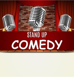 Stand Up Comedy Show vector
