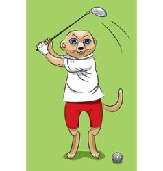 Surikata the golfer vector