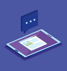 Tablet device isometric icon vector