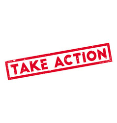 take action rubber stamp vector image
