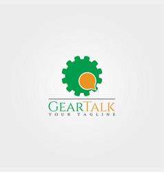 Talk tech logo template gear logo technology vector