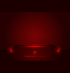 Template technology concept geometric header red vector