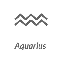 the water-bearer aquarius sing star constellation vector image