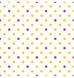 Tile pattern with yellow and pink polka dots vector
