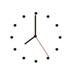 time clock with shadow on white background vector image