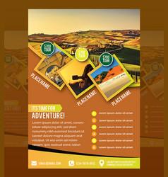 Travel flyer vector