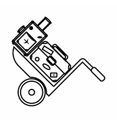 Truck with luggage icon outline style vector image