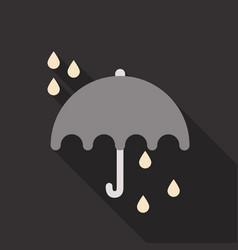 Umbrella rain icon on the background vector