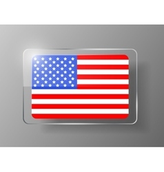 United States Flag Glossy Button vector