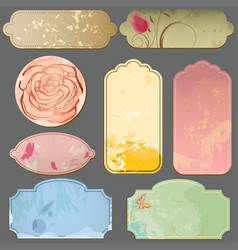 vintage paper labels and tags vector image