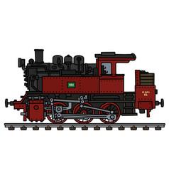 Vintage red tank engine locomotive vector