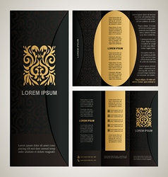 Vintage style brochure template vector image vector image