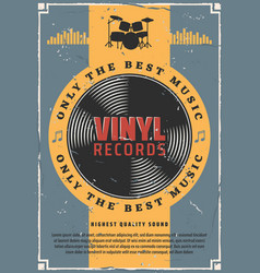 Vinyl records and bass drum music vector