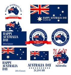 We love you australia badge label logo greeting ca vector