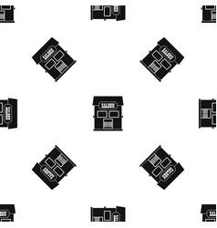 Western saloon pattern seamless black vector