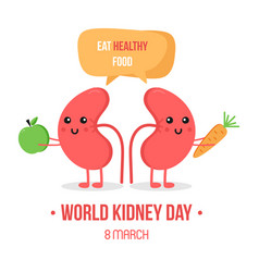 world kidney day card vector image