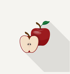 apple flat icon vector image