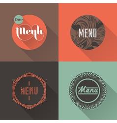 Labels for restaurant menu design vector image vector image
