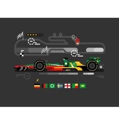 Motorsport formula one vector image vector image