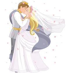 Wedding royal couple vector image