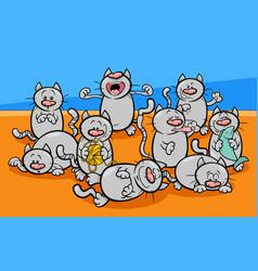 funny cats characters cartoon vector image