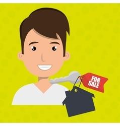 Man house key rent vector